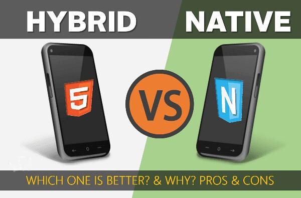 native vs hybrid mobile app